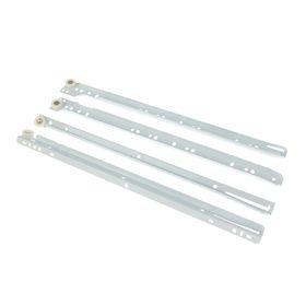 Роликовые направляющие, L=400 мм, до 12 кг, белые, 4 шт. Ош