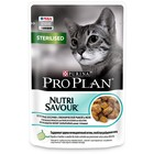 Влажный корм PRO PLAN для стерилизованных кошек, океаническая рыба в желе, пауч, 85 г