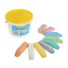 Мелки цветные для асфальта «Квартет», в наборе 18 штук, квадратные, в ведёрке