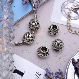 Талисман 'Узор' с сердечками, цвет серебро Ош