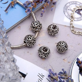 Талисман 'Узор', цветы, цвет серебро Ош