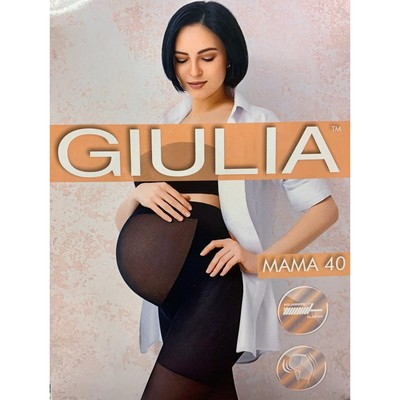 Колготки для беременных GIULIA MAMA 40 den, цвет загар (daino gul), размер 2 - Фото 1