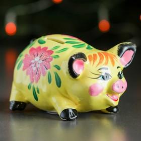 Копилка 'Свинка', глянец, разноцветный, 8 см, микс Ош