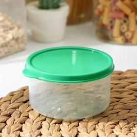 Контейнер круглый Доляна, пищевой, 300 мл, цвет зелёный
