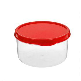 Контейнер круглый Доляна, пищевой, 300 мл, цвет красный