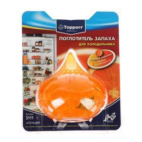 """Поглотитель запаха для холодильника Topperr гелевый """"Апельсин"""", в пластиковом блистере"""