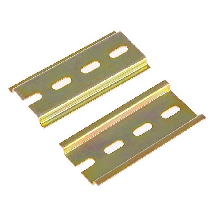DIN-рейка L 75, оцинкованная, цвет желтый