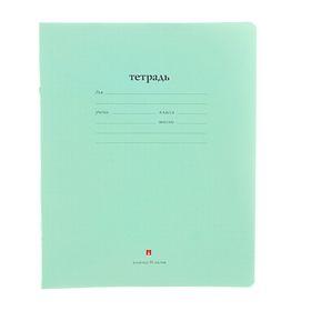 """Тетрадь 18 листoв в клетку """"Народная"""", обложка мелованная бумага, зеленая"""