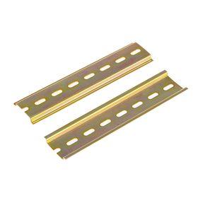 DIN-рейка L 150, оцинкованная, цвет желтый, в упаковке 100 шт. Ош