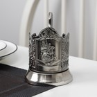 Подстаканник «Георгий Победоносец», стакан d=6,1 см, никелированный, с чернением - Фото 2