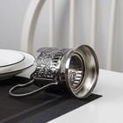 Подстаканник «Георгий Победоносец», стакан d=6,1 см, никелированный, с чернением - Фото 4