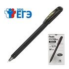 Ручка гелевая Pentel Energel 417, черный корпус, быстросохнущие чернила, 0.7мм, черный (LR7)
