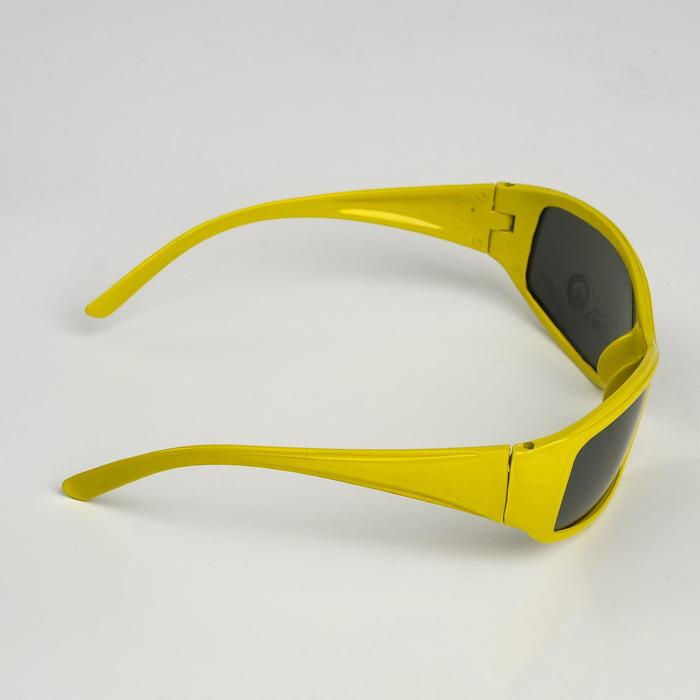 Очки солнцезащитные детские Спорт, оправа МИКС, линзы чёрные, 3.5  4.5  13 см