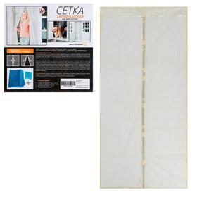 Сетка антимоскитная для дверей, 100 × 210 см, на магнитах, цвет бежевый