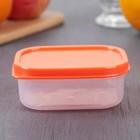 Контейнер прямоугольный, пищевой 150 мл, цвет оранжевый