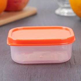 Контейнер прямоугольный Доляна, пищевой, 150 мл, цвет оранжевый