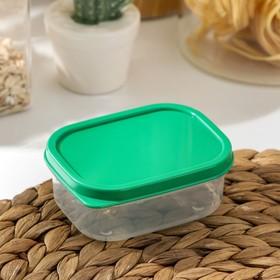 Контейнер прямоугольный Доляна, пищевой, 150 мл, цвет зелёный