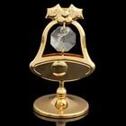 Сувенир «Колокольчик», с кристаллами Сваровски, 6 см - Фото 1