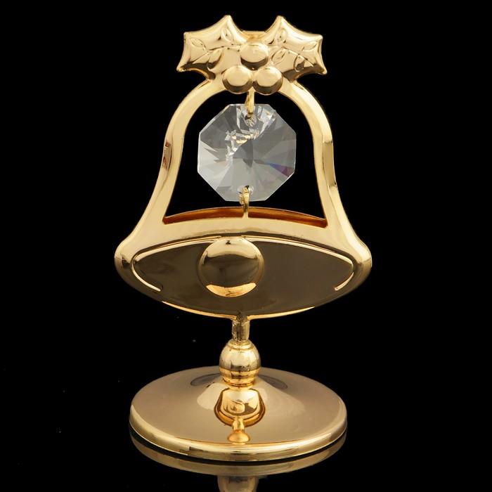 Сувенир Колокольчик, с кристаллами Сваровски, 6 см