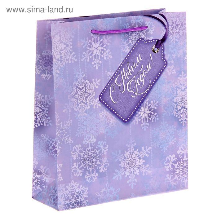 Пакет ламинированный вертикальный «Снежинки», 23 × 27 × 8 см