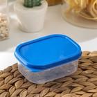 Контейнер прямоугольный, пищевой 150 мл, цвет синий