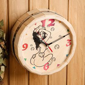 Часы банные бочонок 'Девушка' Ош