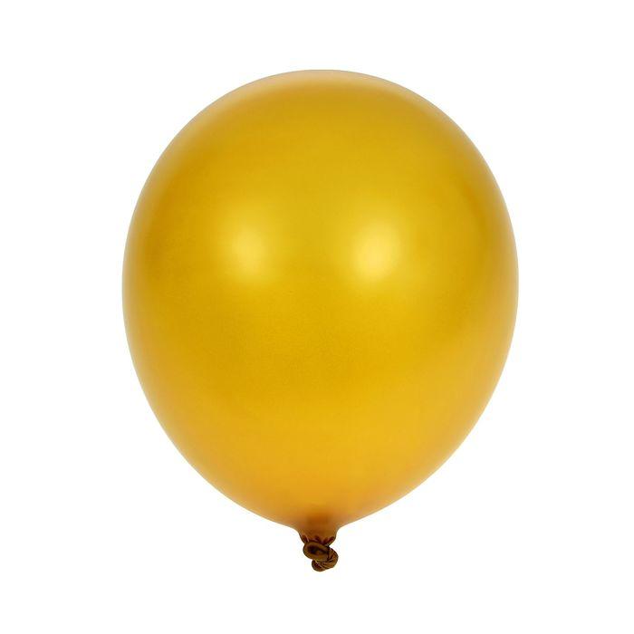 Шар латексный 5, металл, водные бомбочки, набор 100 шт., цвет золотой