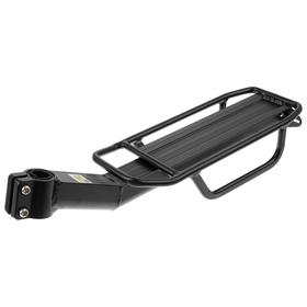 Багажник 26'-28' KWA-618-06, задний на подседельную трубу, алюминиевый, цвет чёрный Ош