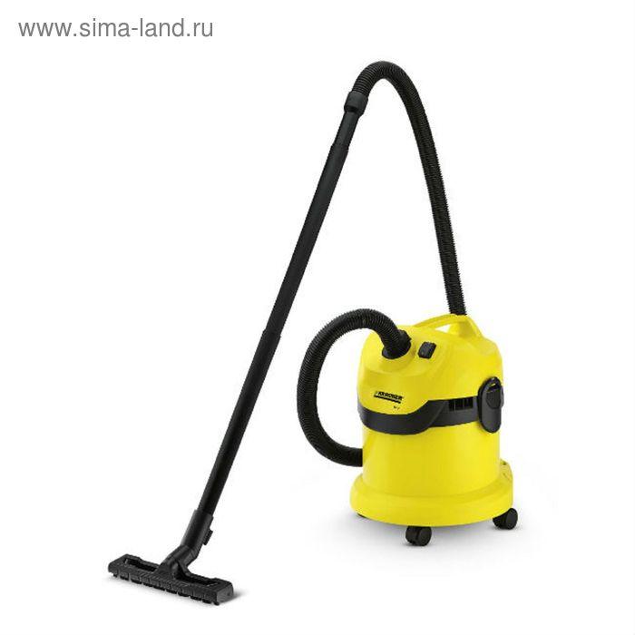 Пылесос Karcher WD2/MV2, 1000 Вт, 12 л, желтый/черный