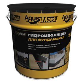 Мастика битумная AquaMast для фундамента, 18кг Ош