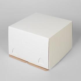 Кондитерская упаковка микро-гофро-картон, короб белый 30 х 30 х 19 см