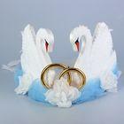 Украшение на крышу «Лебеди», бело-голубое