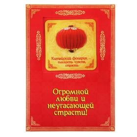 Объёмный магнит с открыткой «Китайский фонарик», на любовь Ош