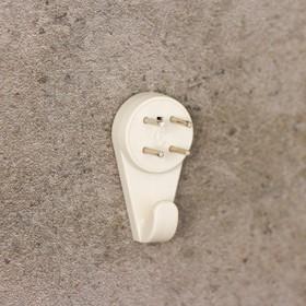 Крепление для картины ЗАО Пластик «Без гвоздя», большое, цвет белый