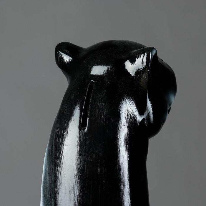 """Копилка """"Пантера"""", покрытие лак, чёрная, 50 см"""