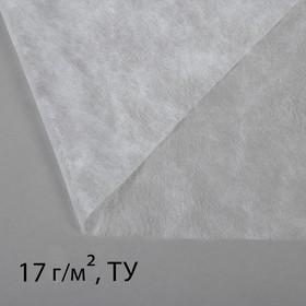 Материал укрывной, 5 × 1,6 м, плотность 17, с УФ-стабилизатором, белый, «Агротекс» Ош