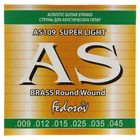 Струны  BRASS Round Wound Super Light ( .009-.045, 6 стр., латунная навивка на граненом керне)   145