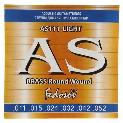 Струны BRASS Round Wound Light ( .011-.052, 6 стр., латунная навивка на граненом керне)