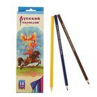 Карандаши 18 цветов, «Русский карандаш. Сказки», шестигранные, длина 175 мм, ok 6.4 мм