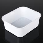 Емкость для хранения 6,5 л прямоугольная, цвет белый