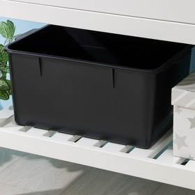 Ёмкость для хранения, 18 л, 42×30×20 см, цвет чёрный