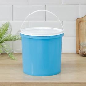 Ведро с герметичной крышкой ПластоС, 5 л, цвет МИКС