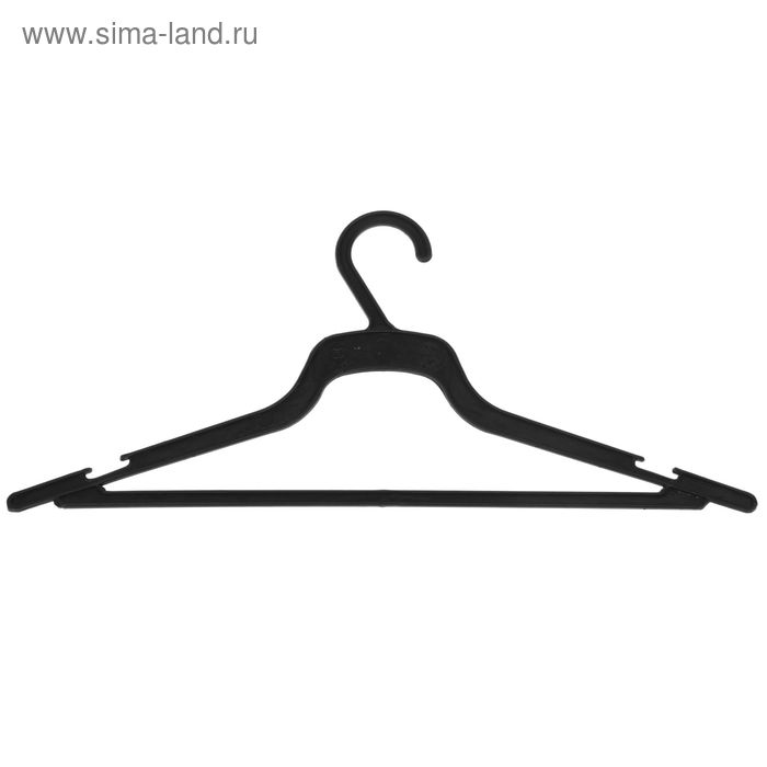 Вешалка-плечики плательная, размер 48-50, цвет чёрный