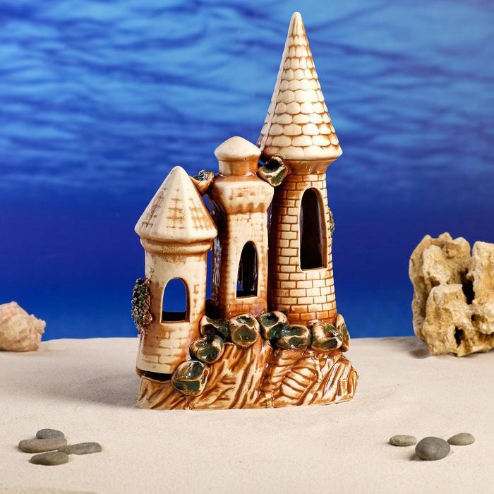 """Декорация для аквариума """"Замок на скале"""", 8 х 19 х 27 см"""