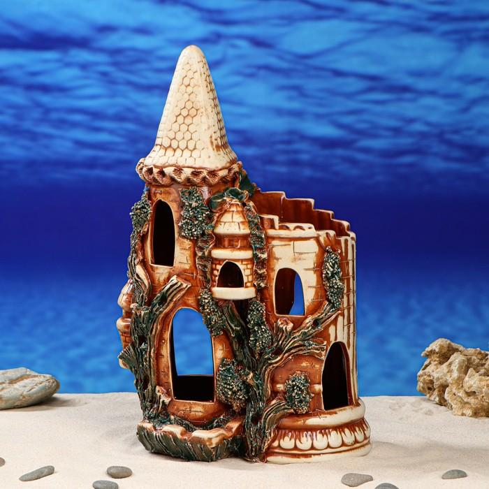 """Декорация для аквариума """"Башня"""", 17 х 27 х 39 см, микс"""