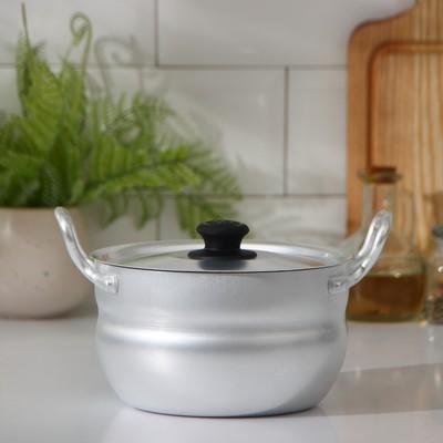 Кастрюля, 1,7 л, металлическая крышка, цвет хромированный - Фото 1