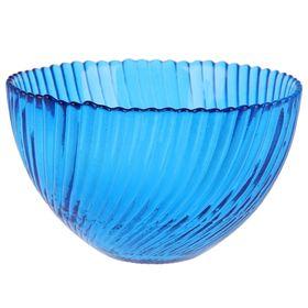 Салатник «Альтера», 350 мл, d=12 см, цвет синий прозрачный