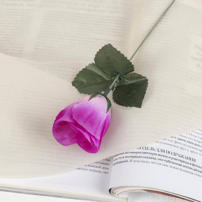 """Цветы искусственные """"Роза"""" 23 см, сиреневая"""