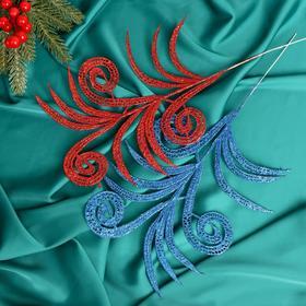 Декор 'Блеск' листы с завитками 28 см, микс Ош