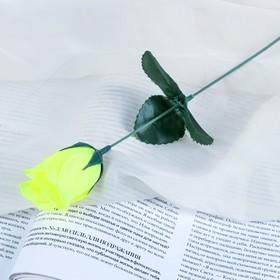 Цветок искусственный 'Роза' жёлтая Ош